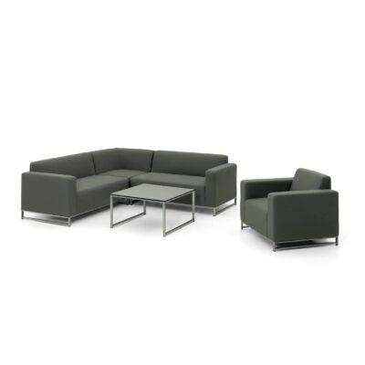 Pohovkový set Brava patrí medzi veľmi pohodlné terasové sedacie zostavy, pozostávajúci zo stolíka, pohovky a pohodlného kresla.